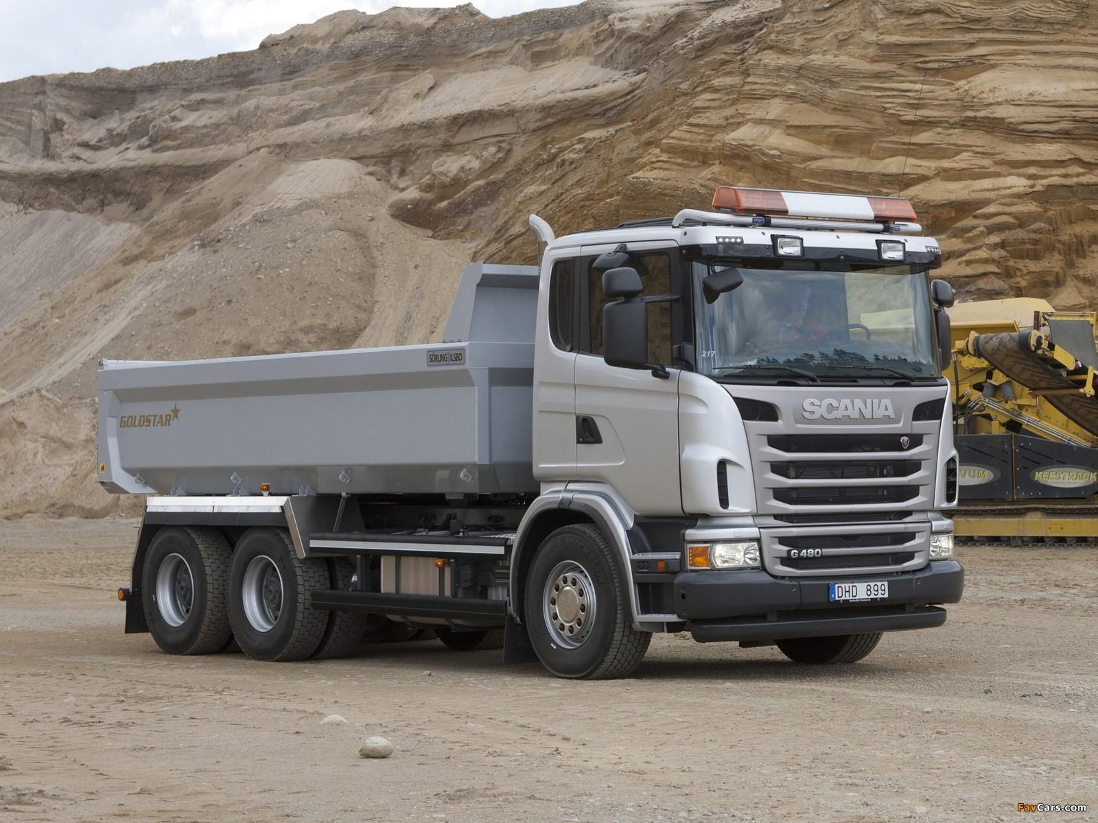 Scania G480 6x4 Tipper 2010–13 photos (1600 x 1200)