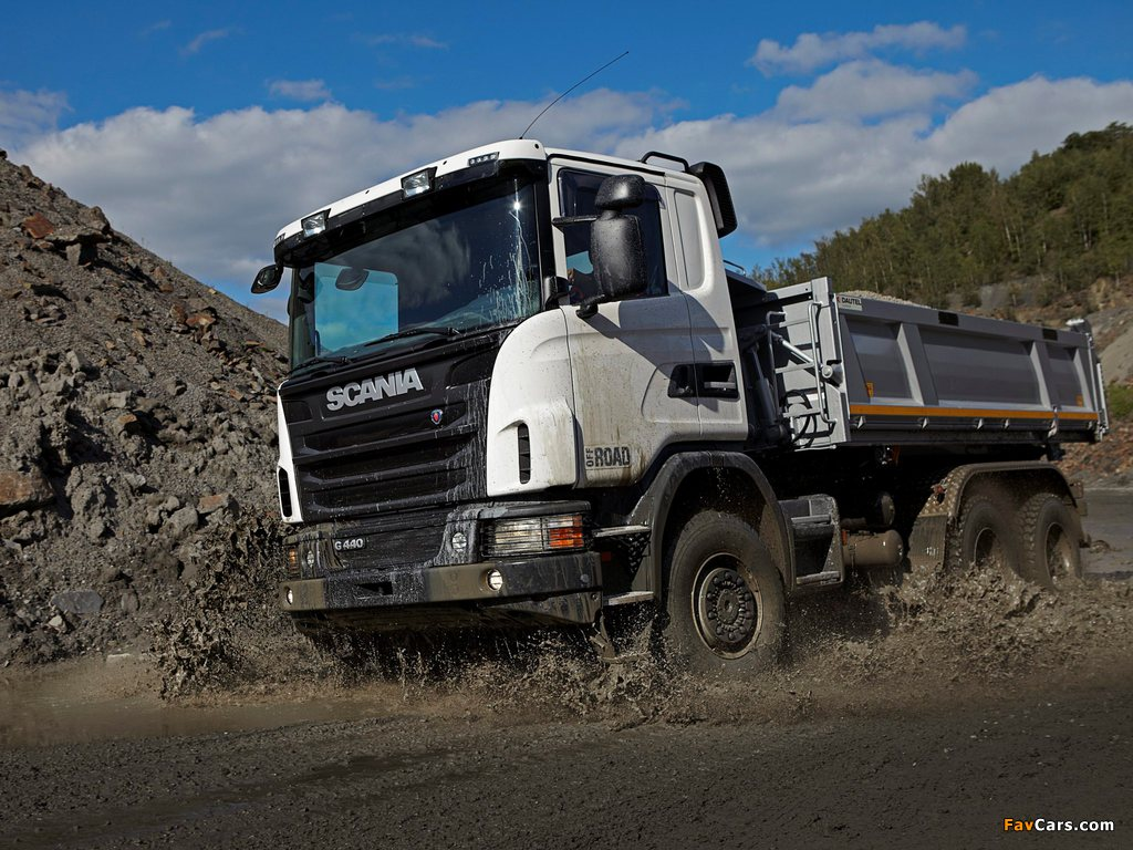 Scania G440 6x6 Tipper Off-Road Package 2011 photos (1024 x 768)