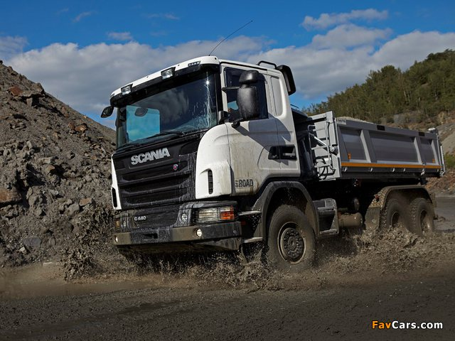 Scania G440 6x6 Tipper Off-Road Package 2011 photos (640 x 480)