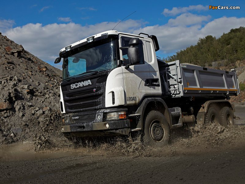 Scania G440 6x6 Tipper Off-Road Package 2011 photos (800 x 600)