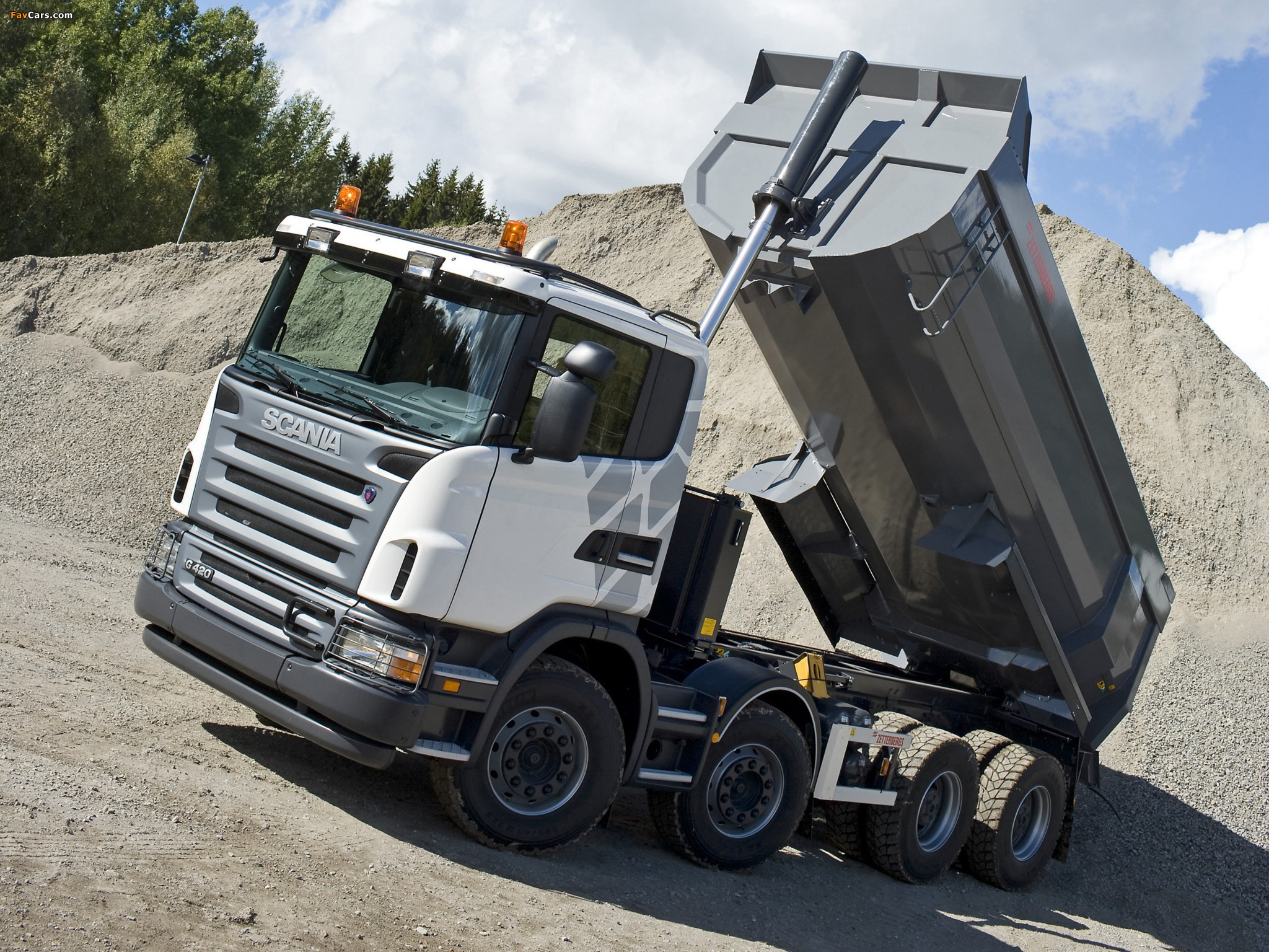 Scania G420 8x4 Tipper 2005–10 wallpapers (2048 x 1536)