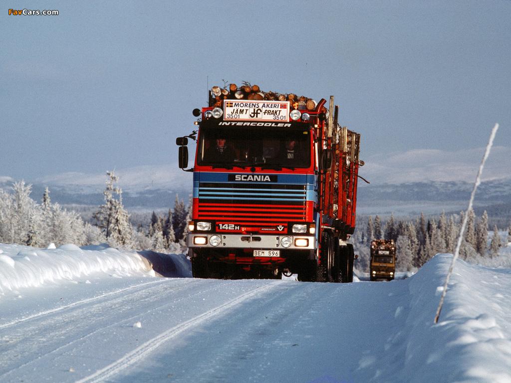 Scania 142H 6x4 Timber Truck 1981–88 photos (1024 x 768)