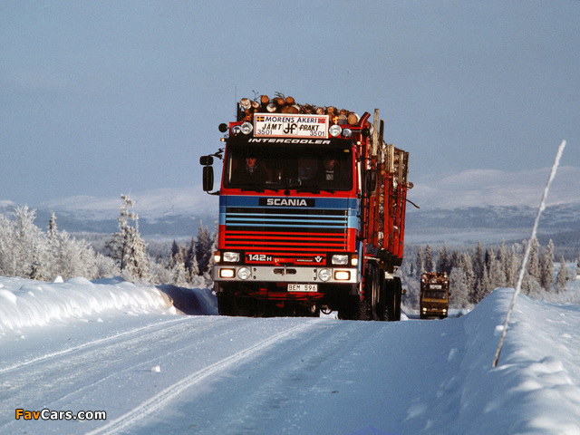 Scania 142H 6x4 Timber Truck 1981–88 photos (640 x 480)
