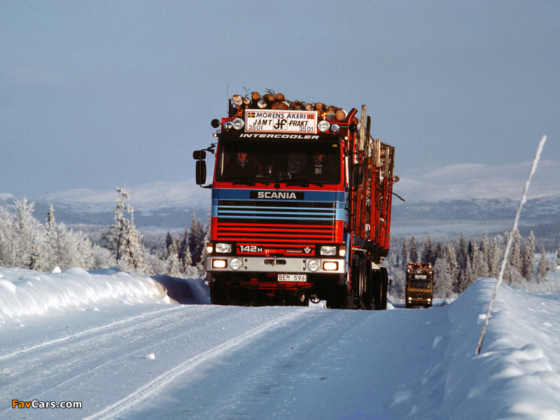 Scania 142H 6x4 Timber Truck 1981–88 photos (800 x 600)