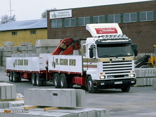 Scania R143M 6x2 1988–95 images (640 x 480)