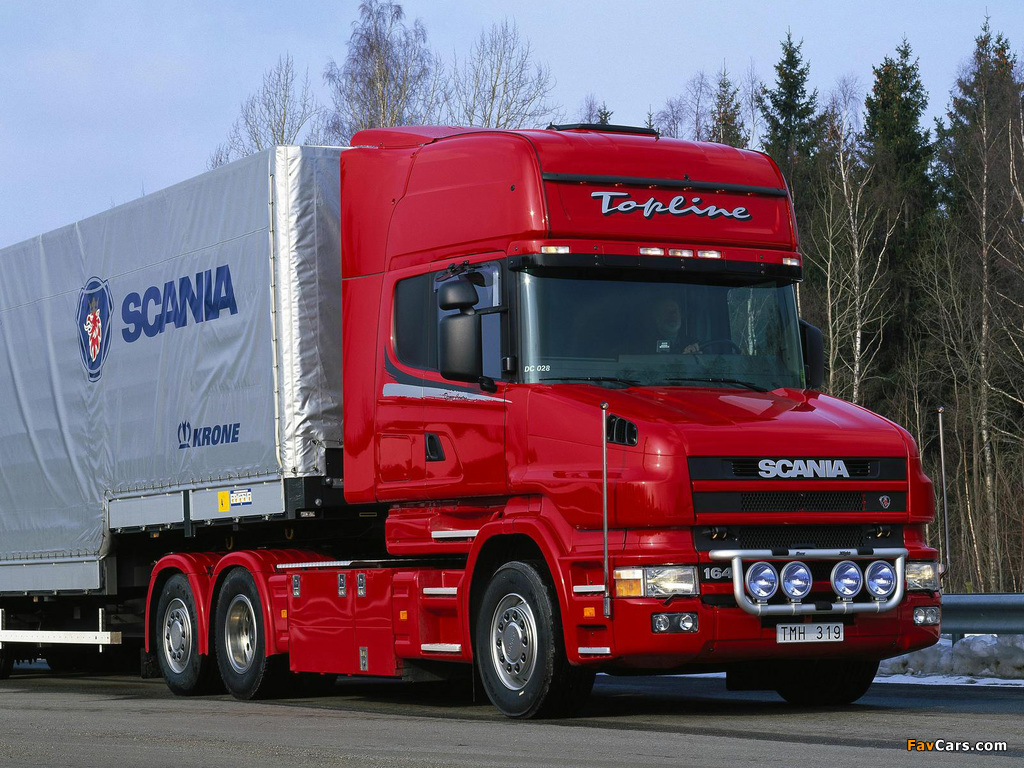 Pictures of Scania T164L 580 6x2 Topline 1995–2004 (1024 x 768)