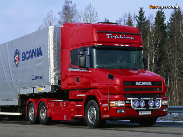 Pictures of Scania T164L 580 6x2 Topline 1995–2004 (640 x 480)