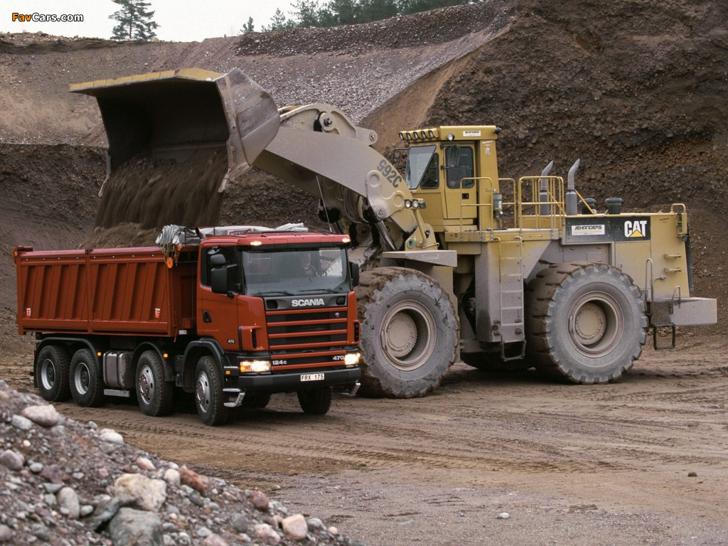 Pictures of Scania R124CB 470 8x4 Tipper 1995–2004 (1024 x 768)