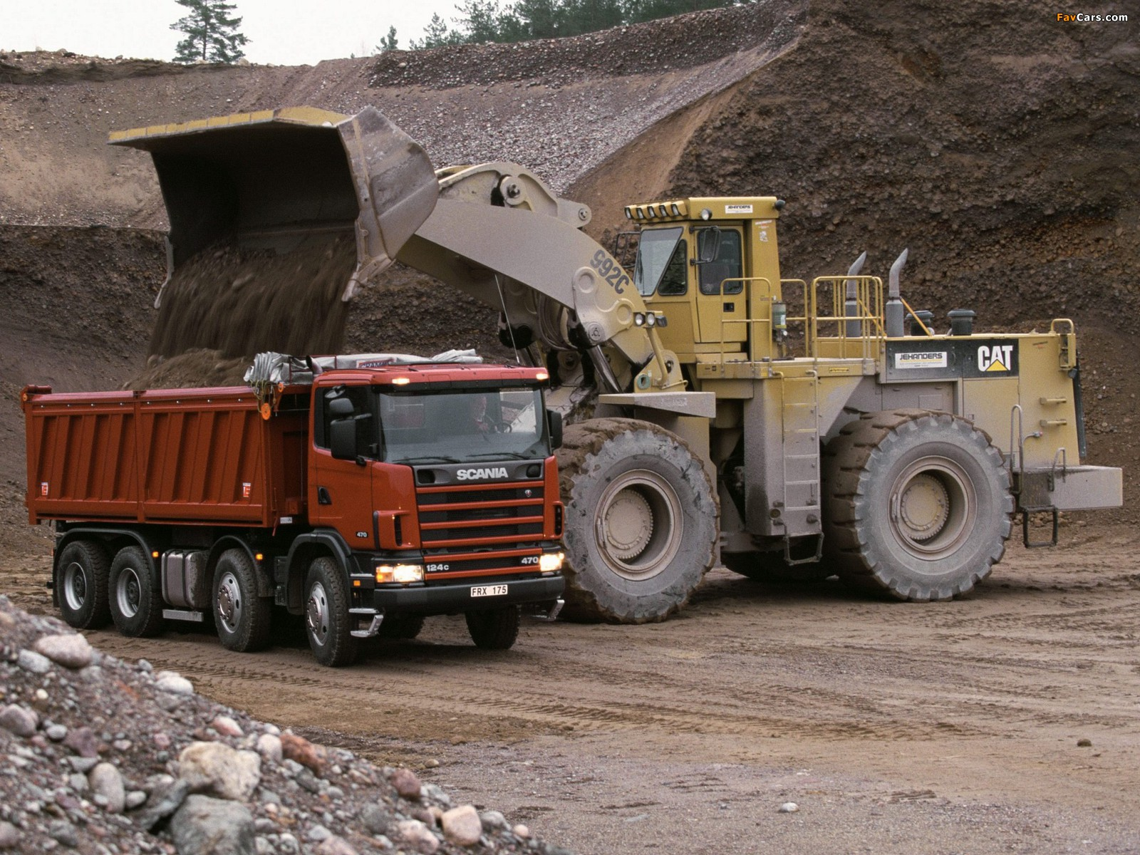 Pictures of Scania R124CB 470 8x4 Tipper 1995–2004 (1600 x 1200)