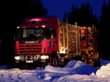 Scania R144G 530 6x4 Timber Truck 1995–2004 images