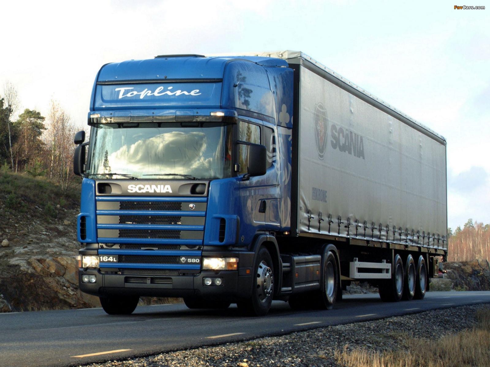 Scania R164L 580 4x2 1995–2004 images (1600 x 1200)