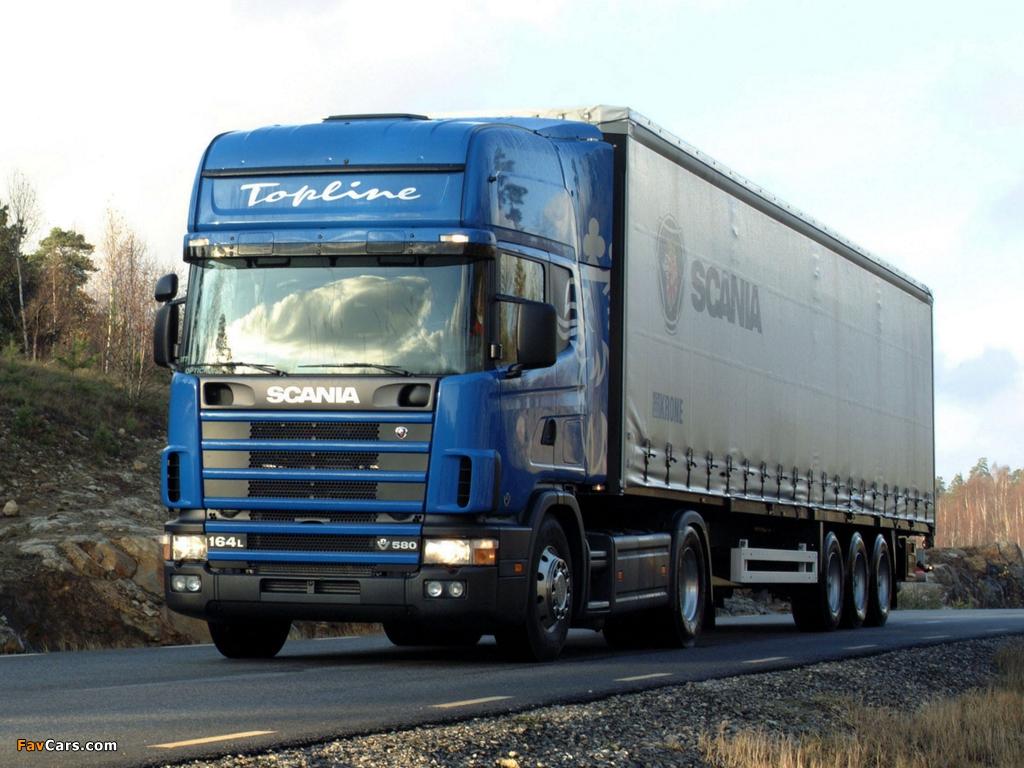 Scania R164L 580 4x2 1995–2004 images (1024 x 768)