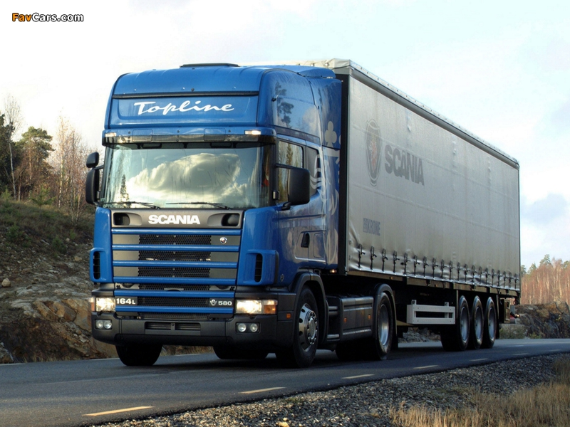 Scania R164L 580 4x2 1995–2004 images (800 x 600)