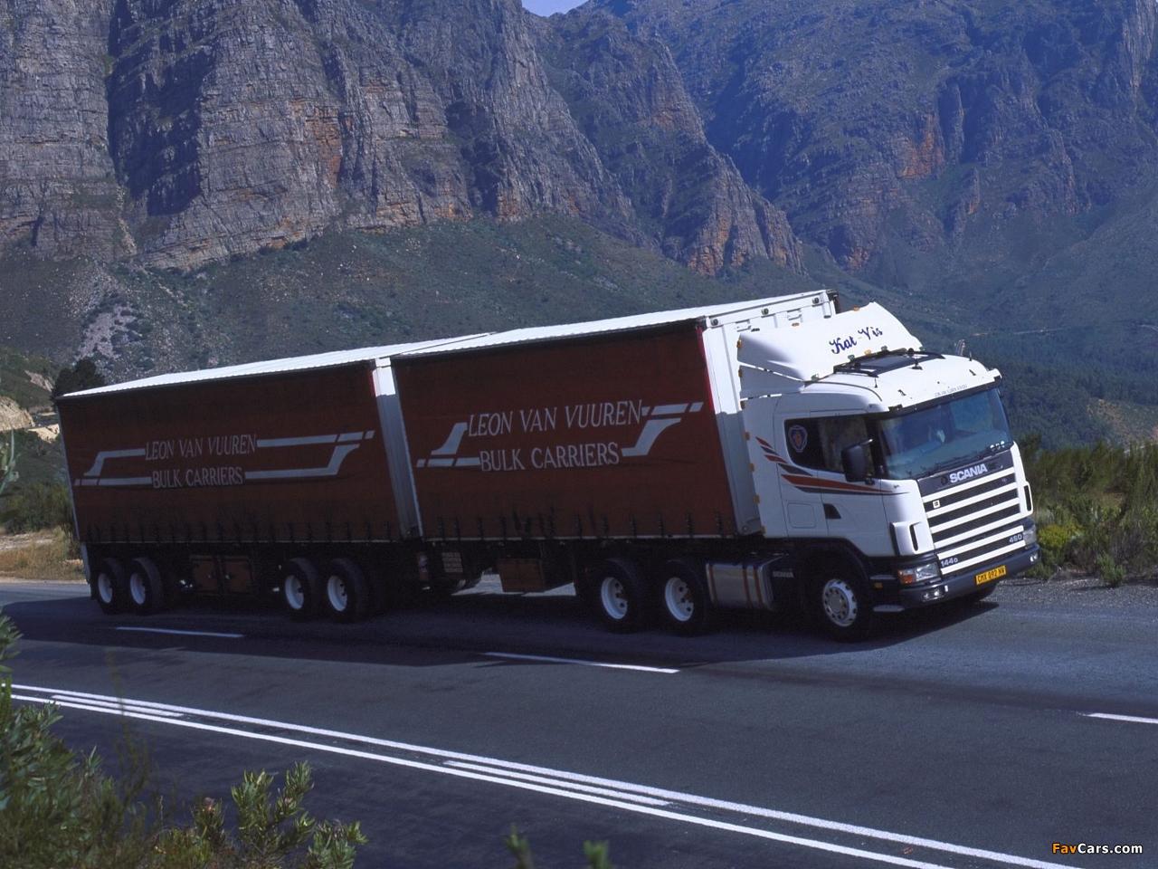 Scania R144G 460 6x4 ZA-spec 1995–2004 photos (1280 x 960)