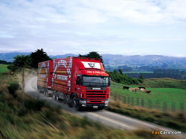 Scania R144G 530 8x4 NZ-spec 1995–2004 photos (640 x 480)