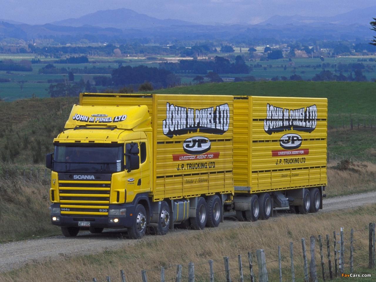 Scania R144G 530 8x4 NZ-spec 1995–2004 photos (1280 x 960)