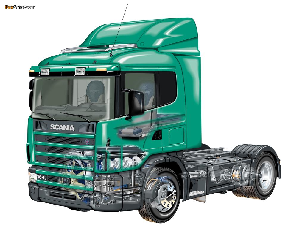 Scania R164L 580 4x2 1995–2004 photos (1024 x 768)