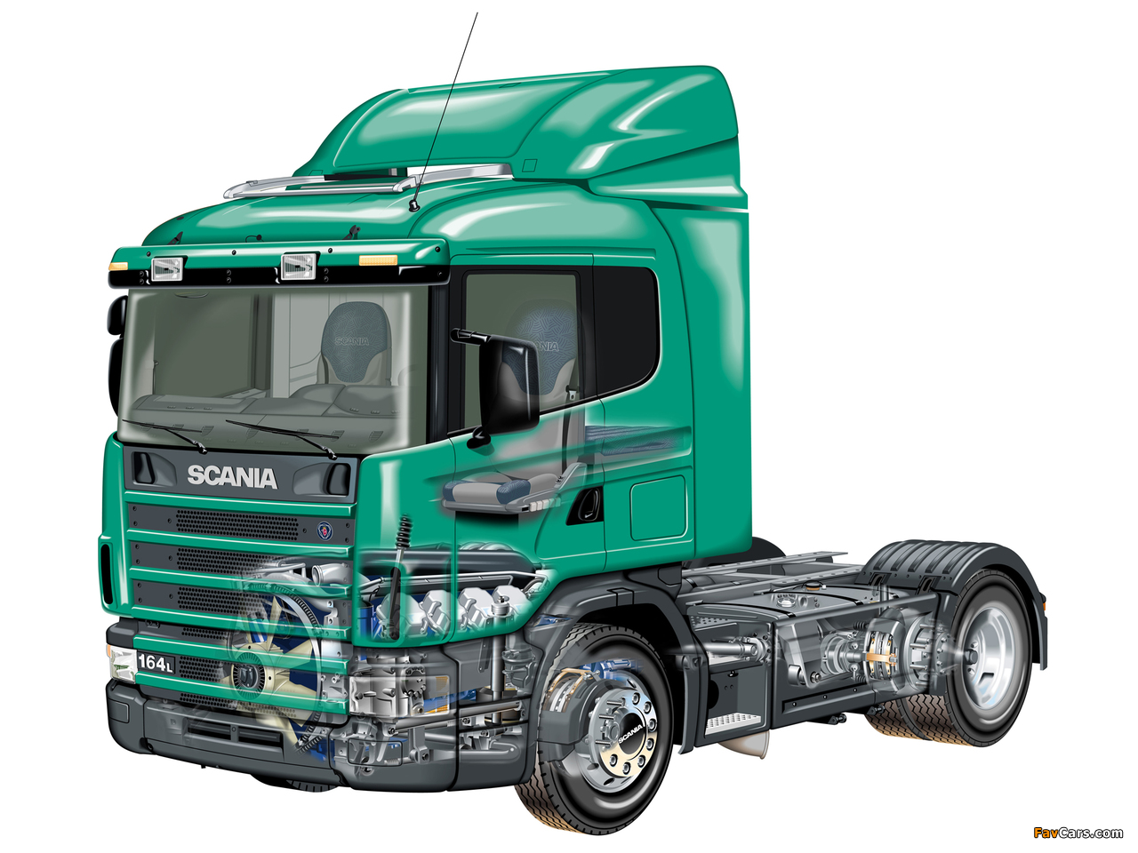 Scania R164L 580 4x2 1995–2004 photos (1280 x 960)