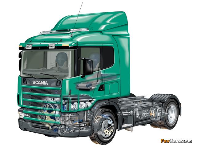 Scania R164L 580 4x2 1995–2004 photos (640 x 480)