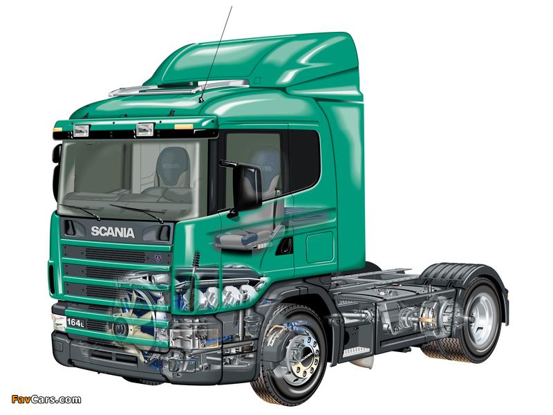 Scania R164L 580 4x2 1995–2004 photos (800 x 600)
