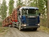 Scania R164GB 580 6x4 Timber Truck 1995–2004 photos