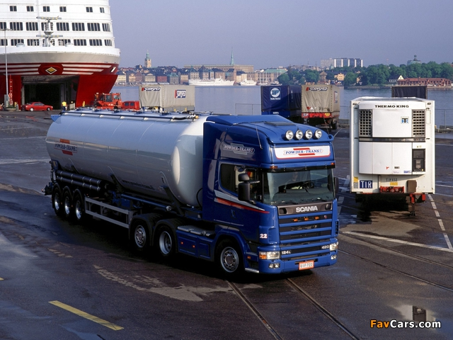 Scania R124L 420 6x2 1995–2004 wallpapers (640 x 480)