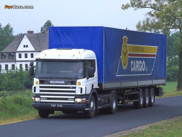 Scania P124G 360 4x2 1995–2004 wallpapers (640 x 480)