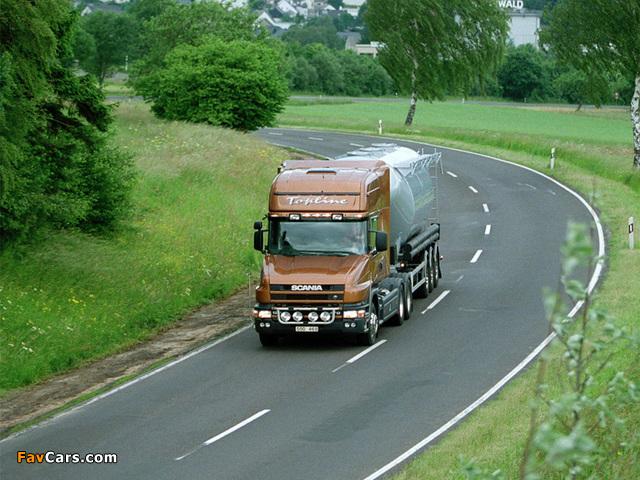 Scania T124 6x2 Topline 1995–2004 wallpapers (640 x 480)