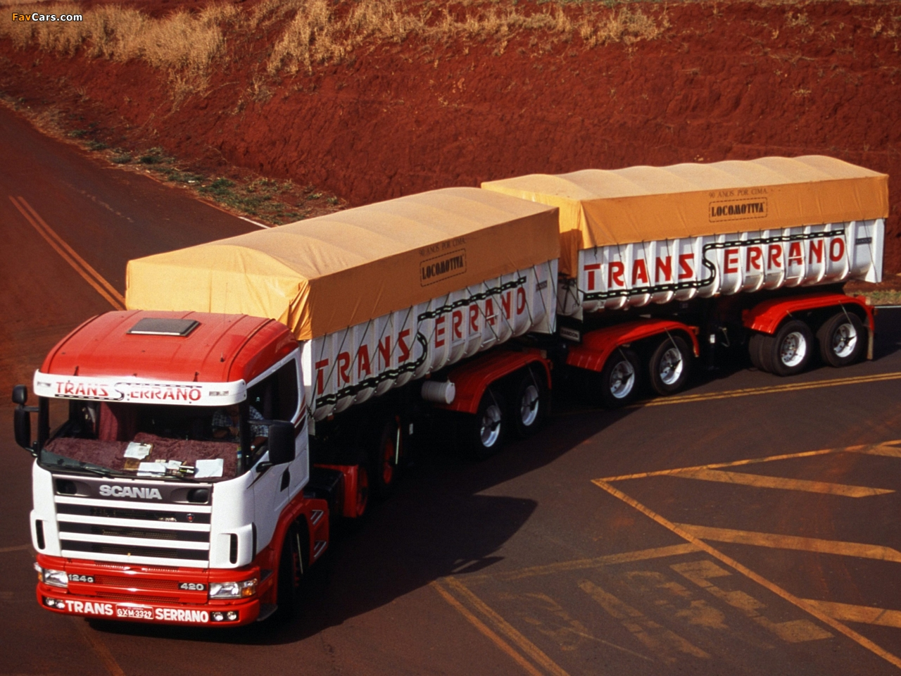 Scania R124G 420 6x4 1995–2004 wallpapers (1280 x 960)