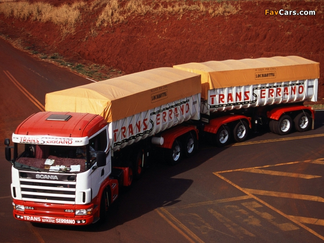 Scania R124G 420 6x4 1995–2004 wallpapers (640 x 480)