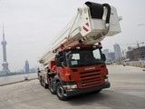 Images of Scania P420 10x4 Firetruck by Bronto Skylift 2004–10