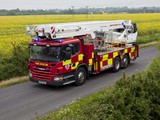 Photos of Scania P310 6x2 Firetruck by Bronto Skylift 2004–10