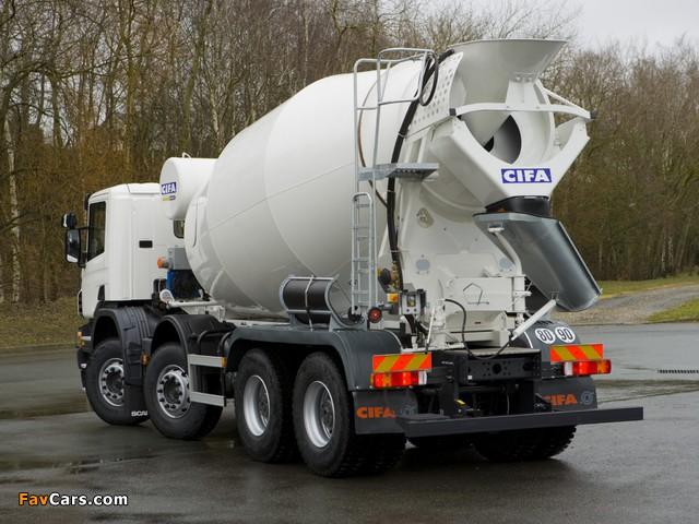 Scania P380 8x4 Mixer 2004–10 images (640 x 480)