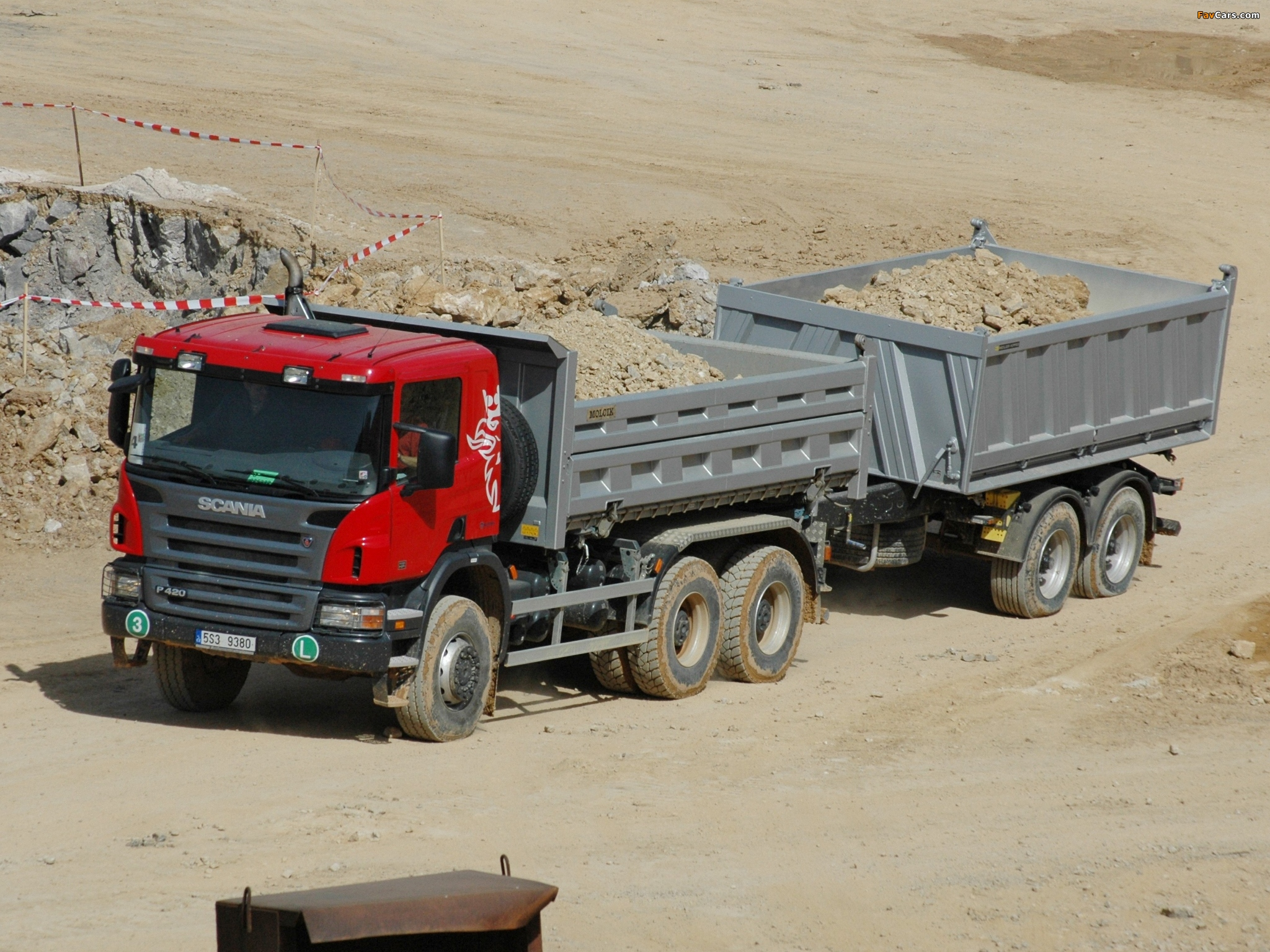Scania P420 6x6 Tipper 2004–10 wallpapers (2048 x 1536)