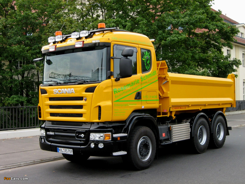 Images of Scania R580 6x4 Tipper 2004–09 (1024 x 768)