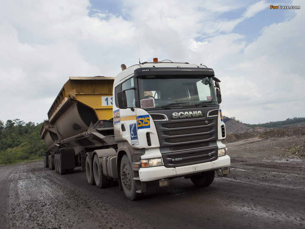 Images of Scania R580 6x4 2005–09 (1024 x 768)