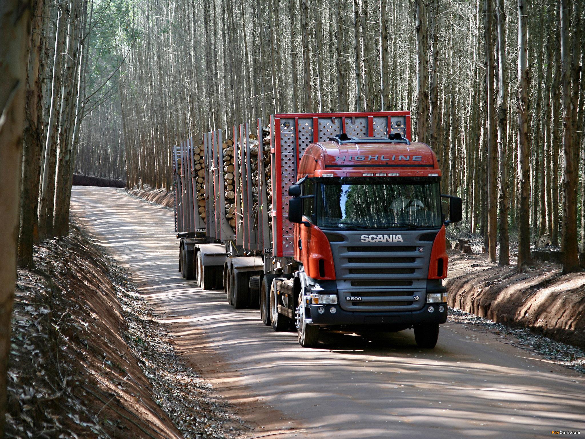 Photos of Scania R500 6x2 Highline Timber Truck 2004–09 (2048 x 1536)