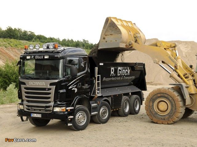 Photos of Scania R480 8x4 Tipper 2009–13 (640 x 480)