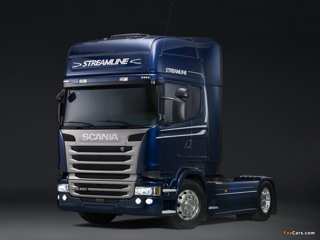 Pictures of Scania R490 4x2 Streamline Topline Cab 2013 (1024 x 768)