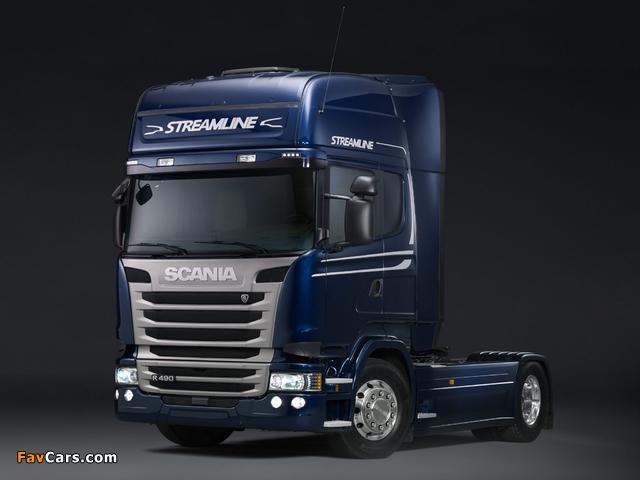 Pictures of Scania R490 4x2 Streamline Topline Cab 2013 (640 x 480)