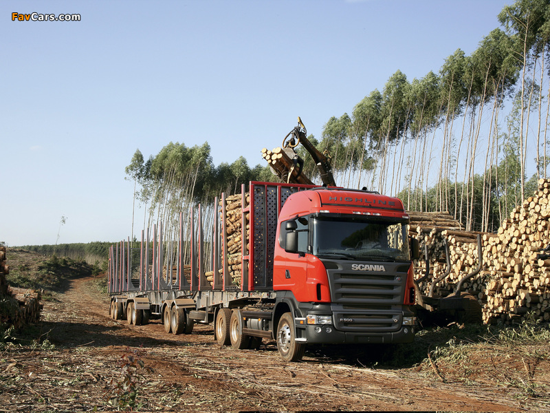Scania R500 6x2 Highline Timber Truck 2004–09 images (800 x 600)