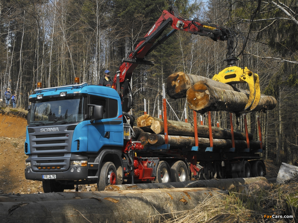 Scania R470 6x6 Timber Truck 2004–09 images (1024 x 768)