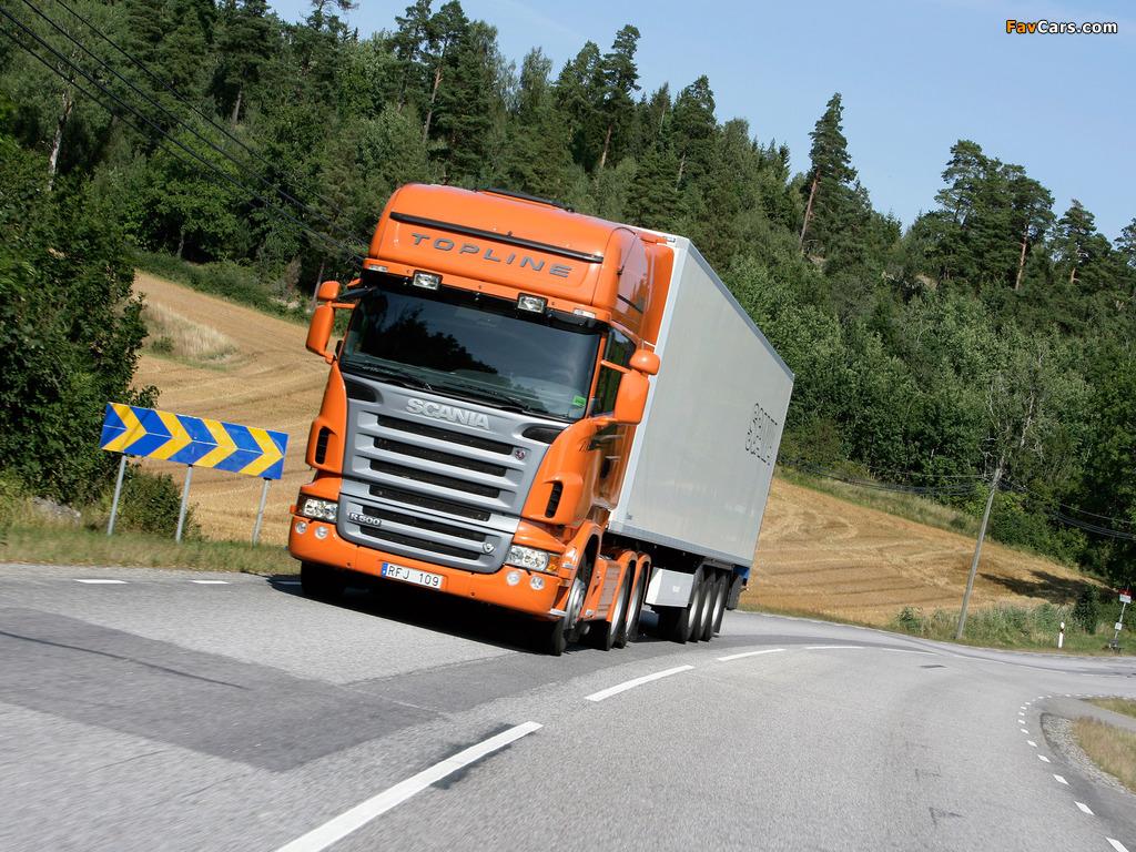 Scania R500 6x4 Topline 2004–09 photos (1024 x 768)