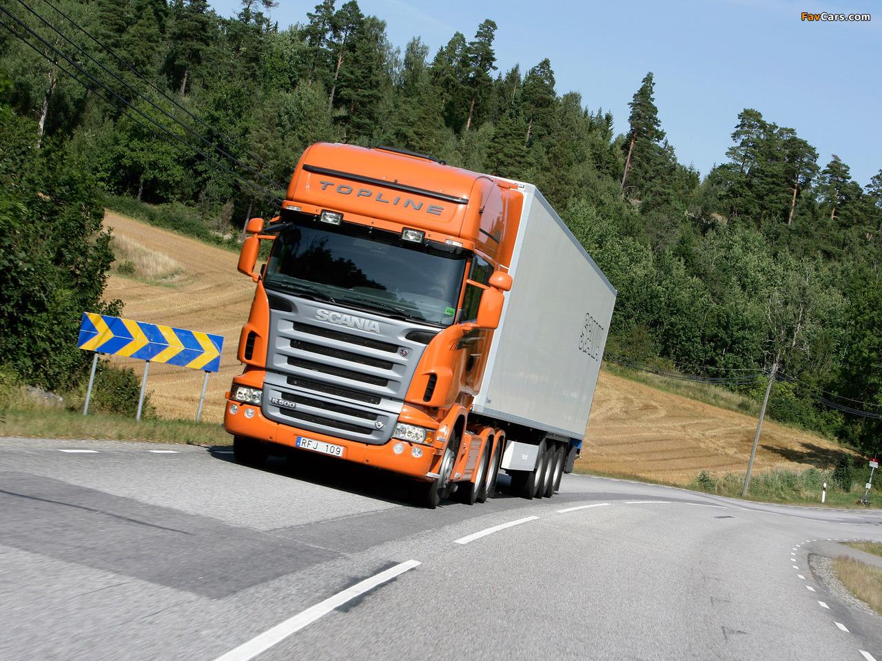 Scania R500 6x4 Topline 2004–09 photos (1280 x 960)