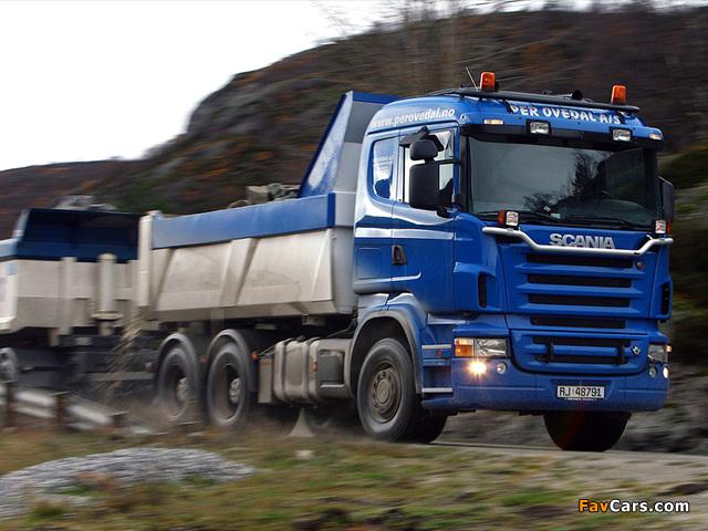 Scania R580 6x4 Tipper 2004–09 photos (640 x 480)
