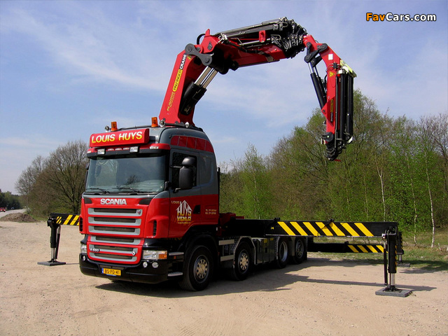 Scania R560 8x4 Highline 2004–09 wallpapers (640 x 480)