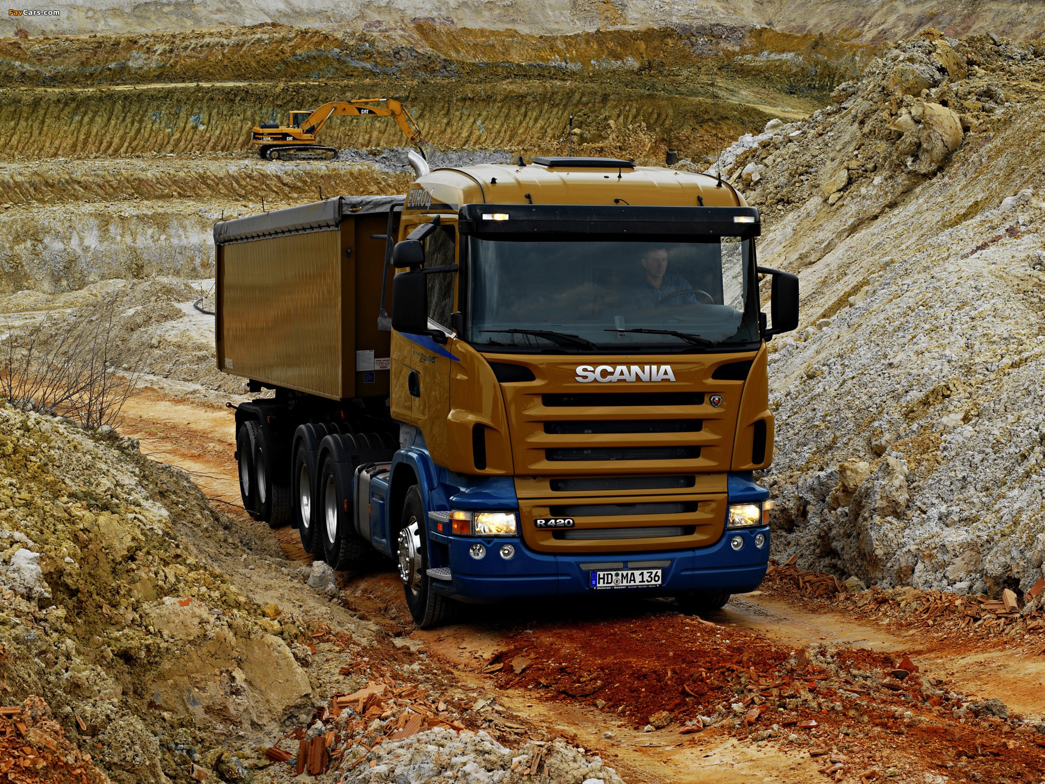 Scania R420 6x4 2004–09 wallpapers (2048 x 1536)