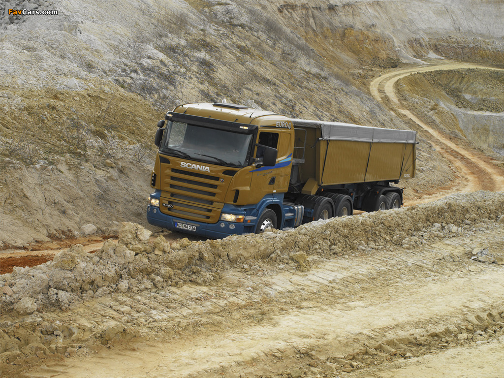 Scania R420 6x4 2004–09 wallpapers (1024 x 768)