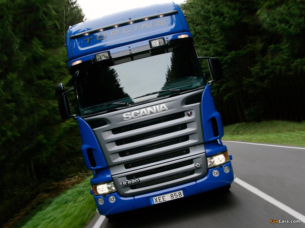 Scania R620 4x2 Topline 2005–09 photos (1024 x 768)