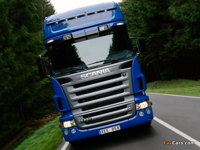Scania R620 4x2 Topline 2005–09 photos (640 x 480)
